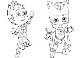 pajama hero connor catboy pj masks coloring free