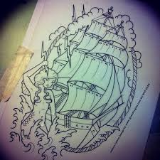 tall ship tattoo sketch in 2017 real photo pictures images and
