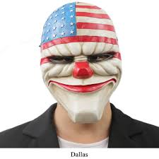 payday 2 halloween masks payday mask dallas wolf hoxton chains resin mask halloween mask