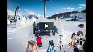 jeep snow jeep snow sculpture time lapse at the 2016 espn x games on vimeo