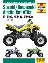 suzuki lt z400 03 09 kawasaki kfx400 03 06 u0026 arctic cat