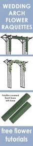 Wedding Arches How To Make Wedding Flower Arch Easy Step By Step Flower Tutorials Learn How