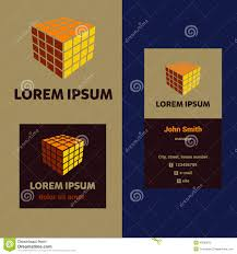 Business Card For Construction Company Vector Logo And Business Card For A Construction Stock Vector