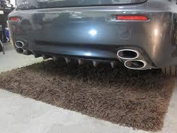 lexus isf exhaust exact motorsports exclusive is f custom finned diffuser by exact