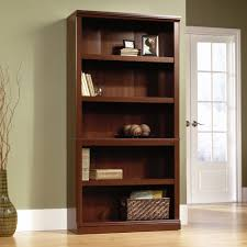 Sauder 4 Shelf Bookcase Sauder Select Cherry 5 Shelf Bookcase 412835