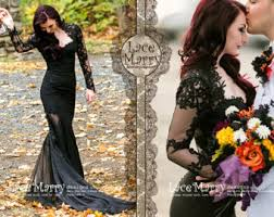 black wedding black wedding dress etsy