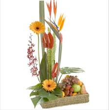 fruit floral arrangements bright floral arrangement with fresh fruit wow floral design