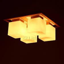 wood flush mount ceiling light square shade wooden semi flush mount ceiling lights