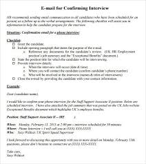 confirmation email template job interview template