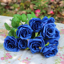 artificial roses artificial flowers blue living room decoration flower