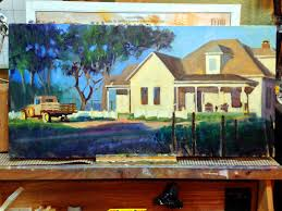 Painting Of House by Randy Saffle In The Field Plein Air Painting Adventures