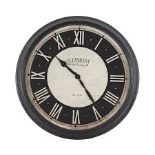 shop decor therapy glenmont analog round indoor wall clock at