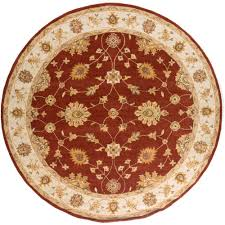 Round Burgundy Rug by Artistic Weavers Chenni Burgundy 8 Ft X 8 Ft Square Indoor Area