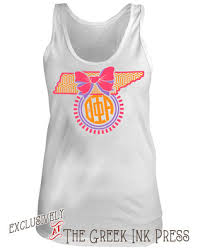 bow monogram tennessee bow monogram sorority t shirt design at the ink press