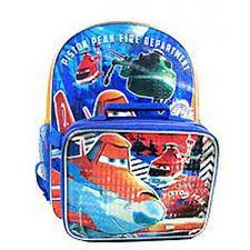 disney planes piston peak fire rescue backpack lunch box