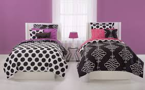 twin girls bedding set elegant black and white seventeen bedding sets with pink color