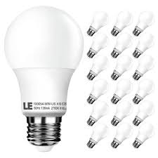 pack of 18 units a19 e26 led bulbs warm white led light bulbs le