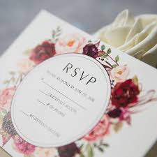 wedding invitations burgundy cheap burgundy floral boho wedding invitations ewi421 as low as