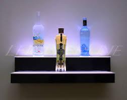 led lighted bar shelves 24 2 step wall mount led lighted bar shelf home bar liquor bottle