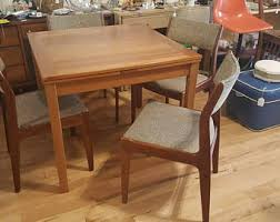 Teak Dining Tables And Chairs Teak Dining Chairs Etsy