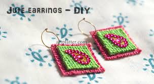 jute earrings make your own jute earrings platter