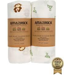Comfort Bay Blankets Amazon Com Amazrock Baby Muslin Swaddle Blanket Soft 100