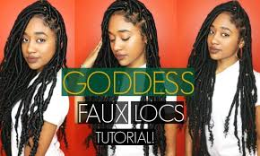 best hair for faux locs here s how you can install super long goddess faux locs on any
