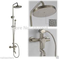 Tub Faucet With Handheld Shower New Brushed Nickel Rain Shower Bath Faucet Set Handheld Shower