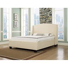 Brushed Nickel Headboard Overstock The Oxford X Platform Bed Features A Clean Arched