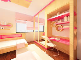 bedroom beautiful girls bedroom with study table built in also