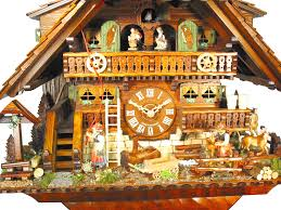 Clock Shop Cuckoo Clock 8 Day Movement Chalet Style 45cm By August Schwer