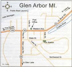 map of arbor glen arbor mi map glen arbor mi mappery