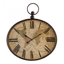 columbus wall clock by oak furniture land