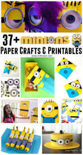 minion wrapping paper 37 minion paper crafts despicable me printables ted s