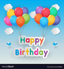 happy birthday balloon happy birthday balloons royalty free vector image
