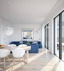 Open Plan Apartment by Fair 60 Blue Apartment Interior Inspiration Design Of