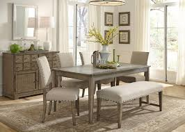 6 piece dining table and chairs dining room tables with bench weatherford rustic casual 6 piece