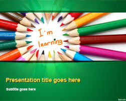 free kids learning powerpoint template