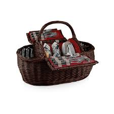 picnic gift basket willow picnic basket with service for four sam s club