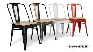 chaise m tal industriel chaise en mtal beautiful huntley light tone rectangular table u