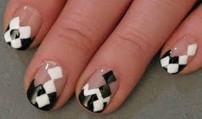 argyle ish free hand nail art design youtube