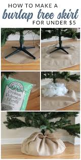 easy peasy christmas tree decorating burlap tree skirt burlap
