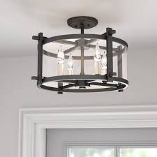 4 Light Ceiling Fixture Trent Design Yucca Valley 4 Light Semi Flush Mount