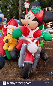 mickey mouse inflatable christmas holiday decorations in fort