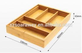 organiseur de bureau en bois bois et bambou extensible couverts et tiroir organisateur bureau en