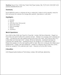 bartender resume templates bartender resume templates resume template ideas