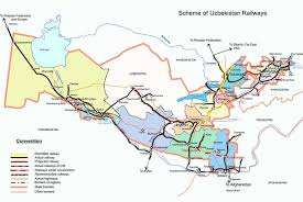 Turkestan Map Transportation Uzbekistan Railways Open Stock Company