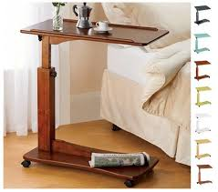 adjustable couch table tray new adjustable bedside table over bed breakfast tray laptop desk
