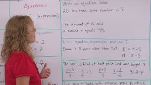working with expressions and equations pre algebra grade 7 math