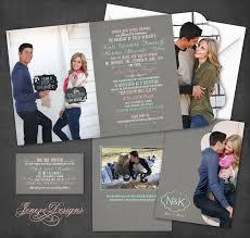 tri fold invitations tri fold chalkboard wedding invitation jeneze designs